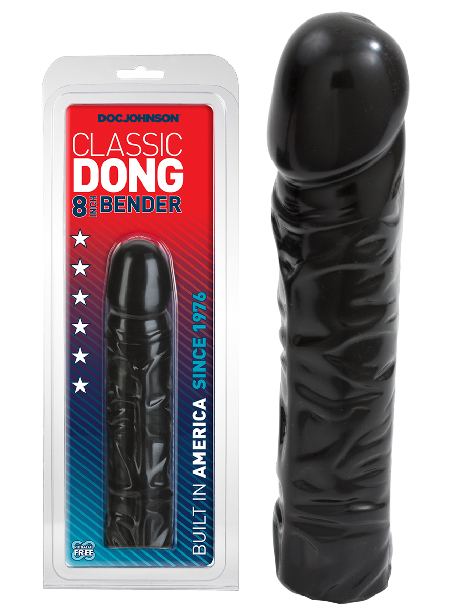 Classic Dong 8 inch Bender - black