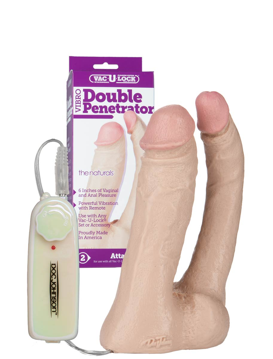 Vac-U-Lock - Natural Double Penetrator Vibro