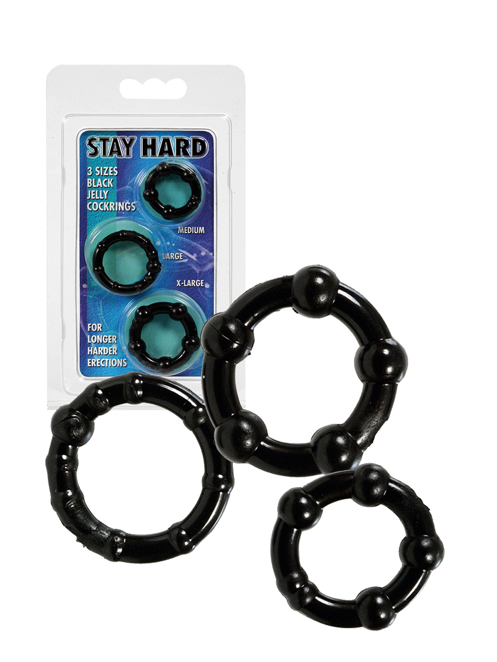Stay Hard Silicon Rings - black