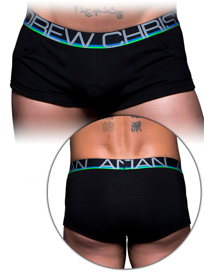 Andrew Christian - Show-It Tagless Pocket Boxer - Black