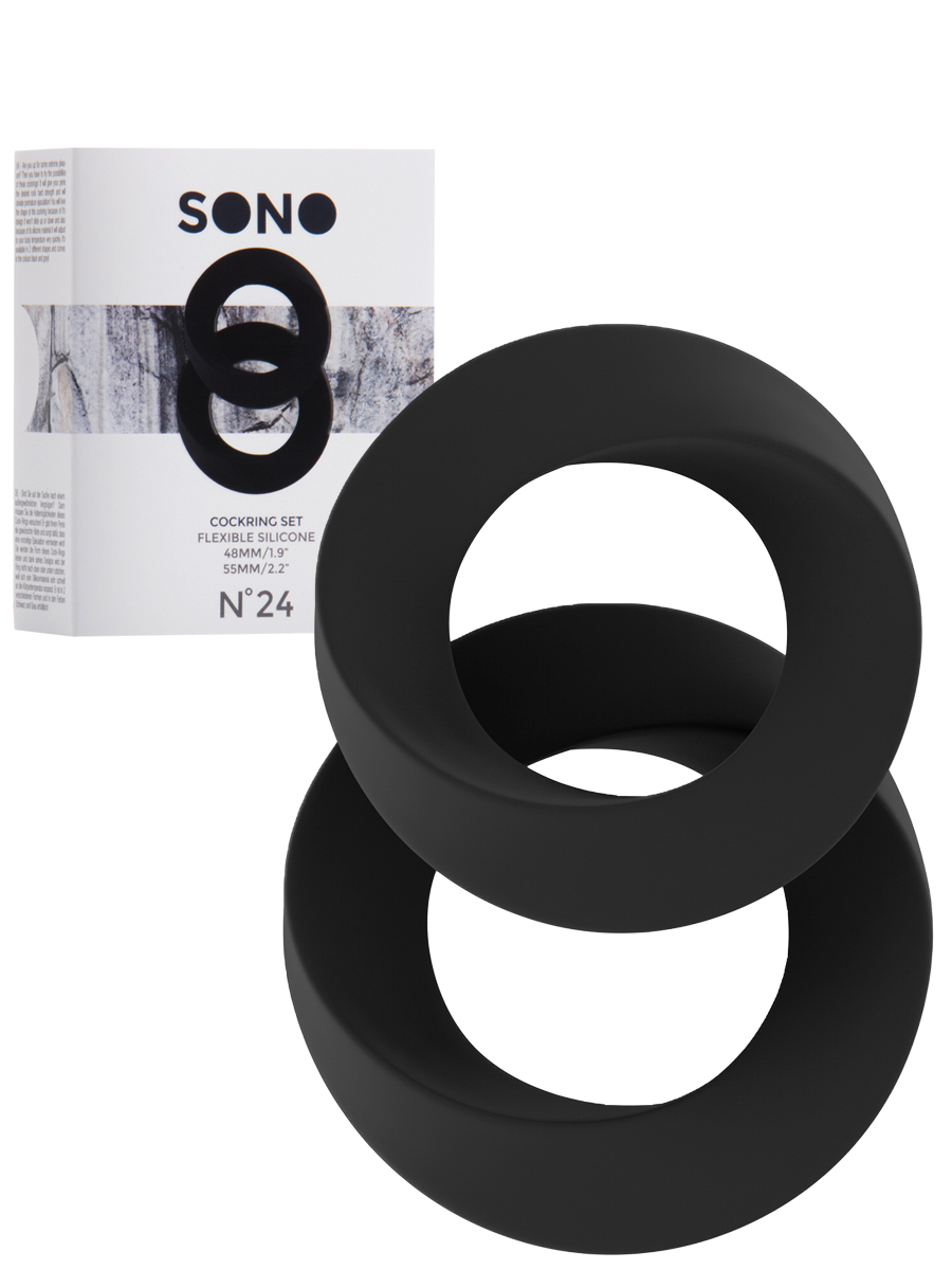 Cockring Set schwarz - SONO No.24
