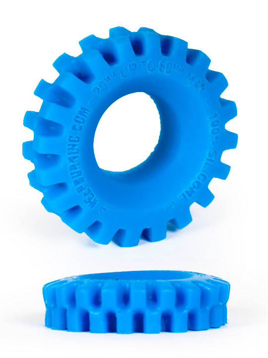 Burning Wheels 100% Silicone Cockring CK05 Blue