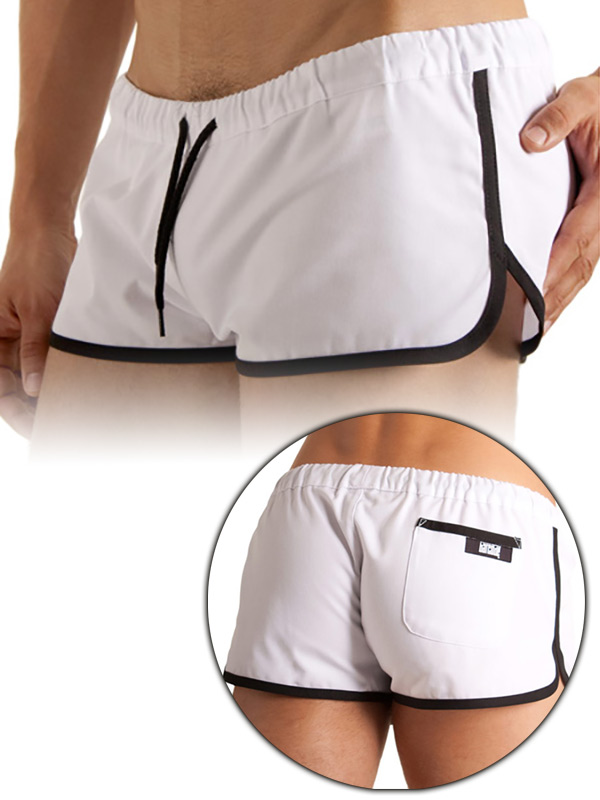 Barcode Gym Short White/Black