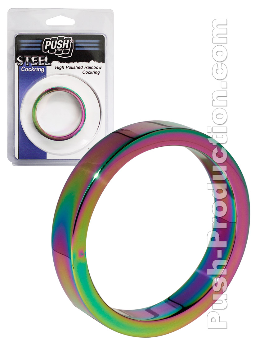 Push Steel - High Polished Rainbow Cockring - 10mm B-Stock 40mm