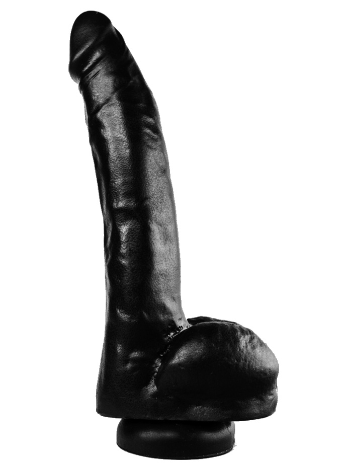 Dark Crystal Black Medium Dildo DC45