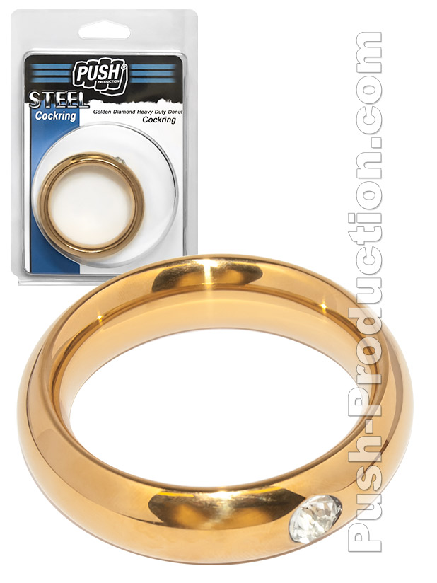 Push Steel - Golden Diamond Donut Cockring, B-Ware - 50mm