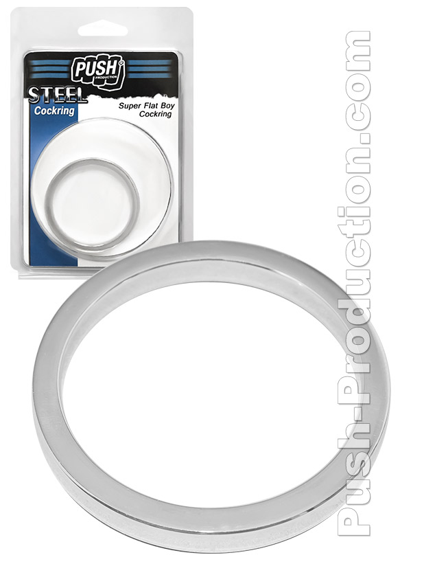 Push Steel - Super Flat Boy Cockring - 50mm Special Size