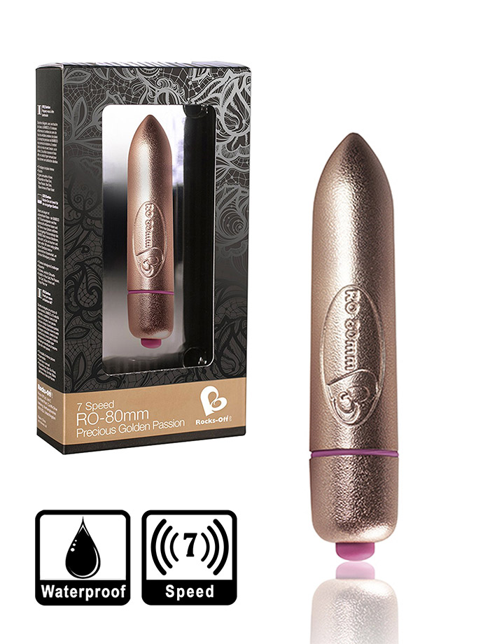 7 Speed RO-80mm Bullet Vibrator - Precious Golden Passion